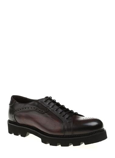 Divarese %100 Deri Bağcıklı Ayakkabı Bordo